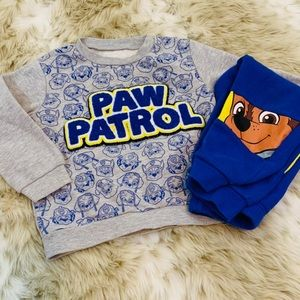 Paw Patrol 🐾 Matching Sweatsuit Top and Bottoms